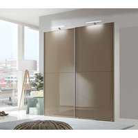 Click to view product details and reviews for Wiemann Berlin 2 Door Sliding Wardrobe in White and Sahara Glass W 150cm.