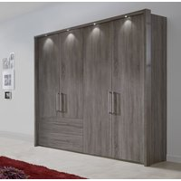 Product photograph showing Wiemann Lincoln Oak 4 Door 2 Left Drawer Wardrobe