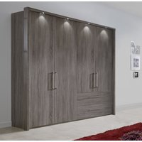 Product photograph showing Wiemann Lincoln Oak 4 Door 2 Right Drawer Wardrobe