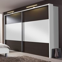 Product photograph showing Wiemann Portland 2 Door Sliding Wardrobe In White And Havana - W 300cm