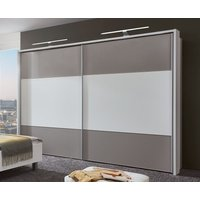 Product photograph showing Wiemann Portland 2 Door Sliding Wardrobe In White And Pebble Grey - W 300cm