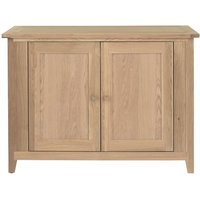 Product photograph showing Willis And Gambier Boston Oiled Oak 2 Door Small Sideboard