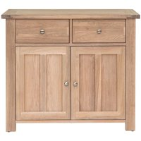 Product photograph showing Willis And Gambier Cotswold Oak 2 Door 2 Drawer Narrow Sideboard