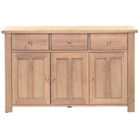 Product photograph showing Willis And Gambier Cotswold Oak 3 Door 3 Drawer Medium Sideboard