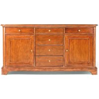 Product photograph showing Willis And Gambier Lille Cherry 2 Door 6 Drawer Wide Sideboard