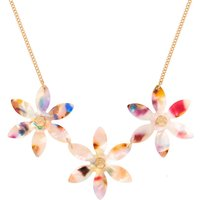 Claire's Resin Painted Flower Statement Necklace - Necklace Gifts