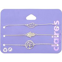 Claire's Silver Nature Icon Chain Bracelets - 3 Pack - Nature Gifts