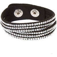 Claire's Studded Layered Wrap Bracelet - Black - Fashion Gifts