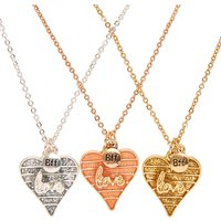 Claire's Mixed Metal Heart Pendant Necklace Set - Metal Gifts