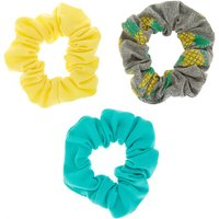 Claire's Neon 'pineapple Hair Scrunchies - 3 Pack - Pineapple Gifts