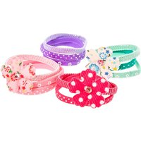 Claire's Kids Pink, Purple And Green Floral Hair Bobbles - Ties Gifts