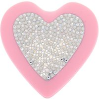 Claire's Club Heart Bling Pop Up Hair Brush - Pink - Bling Gifts