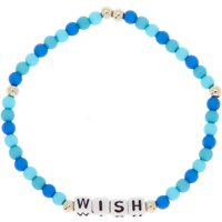 Claire's Wish Beaded Stretch Bracelet - Blue - Wish Gifts