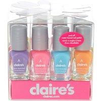 Claire's Neon Mini Water Based Nail Polish Set - 12 Pack - Nail Polish Gifts