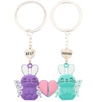 Claire's Best Friends Bella The Bunny Keychains - 2 Pack - Keyrings Gifts