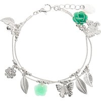 Claire's Silver Spring Charm Bracelet - Mint - Mint Gifts