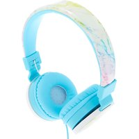 Claire's Rainbow Marble Headphones - Turquoise - Turquoise Gifts