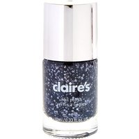 Claire's Black Jewel Chunky Glitter Nail Polish - Jewel Gifts