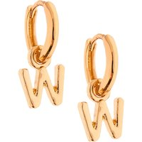 Claire's Gold 10MM Initial Huggie Hoop Earrings - W - Jewellery Gifts