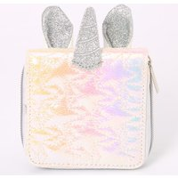 Claire's Iridescent Quilted Uniorn Mini Zip Wallet - White - White Gifts
