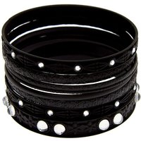 Claire's Gothic Glam Bangle Bracelets - Black, 8 Pack - Gothic Gifts