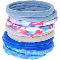 Claire's Blue & Pink Tie Dye Rolled Hair Bobbles - 10 Pack - Ties Gifts