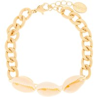 Claire's Gold Puka Shell Chain Bracelet - Ivory - Ivory Gifts