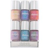 Claire's Shimmer Mini Nail Polish Set - 6 Pack - Nail Polish Gifts