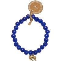 Claire's Lucky Elephant Beaded Stretch Bracelet - Blue - Jewellery Gifts