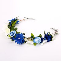 Claire's Navy & Ivory Flower Hair Swag - Ivory Gifts