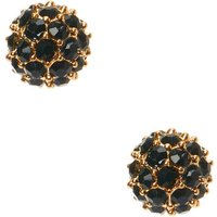 Claire's Gold Crystal Fireball Stud Earrings - Black - Crystal Gifts