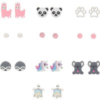 Claire's Adorable Animal Stud Earrings - Pink, 10 Pack - Animal Gifts
