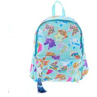 Claire's Unicorn Print Glitter Backpack - Mint - Mint Gifts