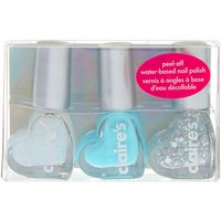 Claire's Shine Bright Peel-Off Nail Polish Set - 3 Pack - Nail Polish Gifts