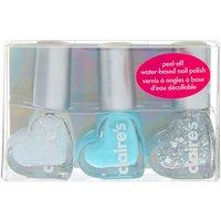 Claire's Shine Bright Peel-Off Nail Polish Set - 3 Pack - Nail Gifts