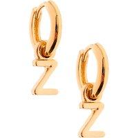 Claire's Gold 10MM Initial Huggie Hoop Earrings - Z - Jewellery Gifts