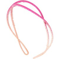 Claire's Ombre Glitter Twist Headband - Pink - Glitter Gifts