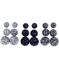 Claire's 9 Pack Silver Bling Ball Stud Earrings - Bling Gifts