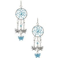Claire's Turquoise Dreamcatcher Butterfly Earrings - Turquoise Gifts