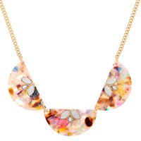 Claire's Resin Painted Fan Statement Necklace - Necklace Gifts