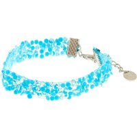Claire's Turquoise Textured Sequin Bracelet - Turquoise Gifts