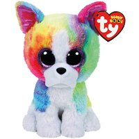 Claire's Ty Beanie Boo Large Isla The Rainbow Bulldog Soft Toy - Beanie Gifts