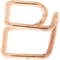 Claire's Rose Gold Double Band Square Ear Cuff - Band Gifts