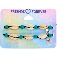 Claire's Cowrie Shell Adjustable Friendship Bracelets - Turquoise, 2 Pack - Friendship Gifts