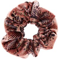 Claire's Snake Skin Velvet Hair Scrunchie - Pink - Snake Gifts