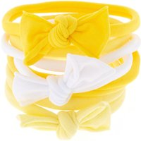 Claire's Bow Tie Hair Ties - Yellow, 8 Pack - Ties Gifts