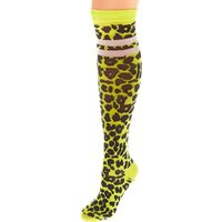 Claire's Neon Leopard Print Knee High Socks - Yellow - Leopard Print Gifts