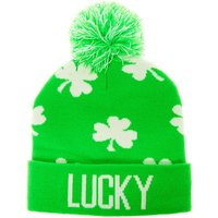 Claire's Lucky Pom Beanie - Green - Beanie Gifts