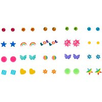 Claire's Neon Summer Fun Stud Earrings - 20 Pack - Fun Gifts
