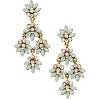 Claire's Frosty Mint Floral Drop Earrings - Mint Gifts